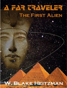 The proposed cover for A Far Traveler, the story of Earth's first alien