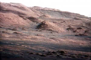 Erosion on Mars as seen by the Mars Rover Photo by NASA