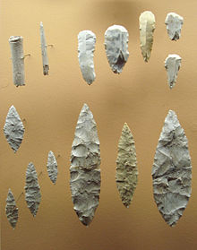Solutrean tools: The flaking is similar to Clovis points. Two such tools are pictured in the linked article