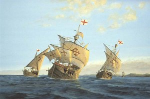 Columbus's ships are always depicted with Templar crosses on their sails. But did they really have them?