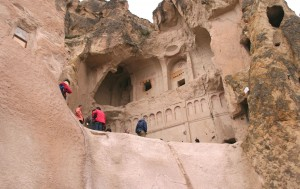 Open Air Museum near Goreme Turkey,  a Christian City carved into the rock.