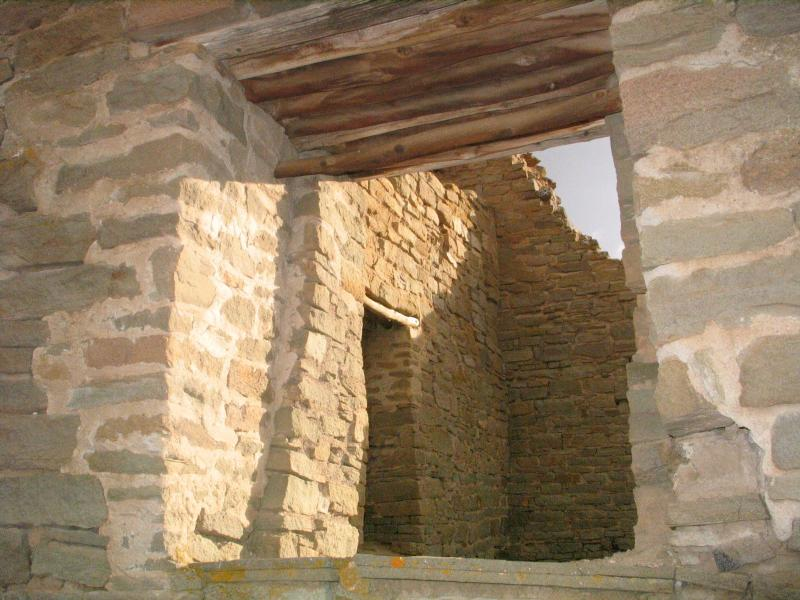 Detail of the Anasazi ruins at Aztec National Monument.